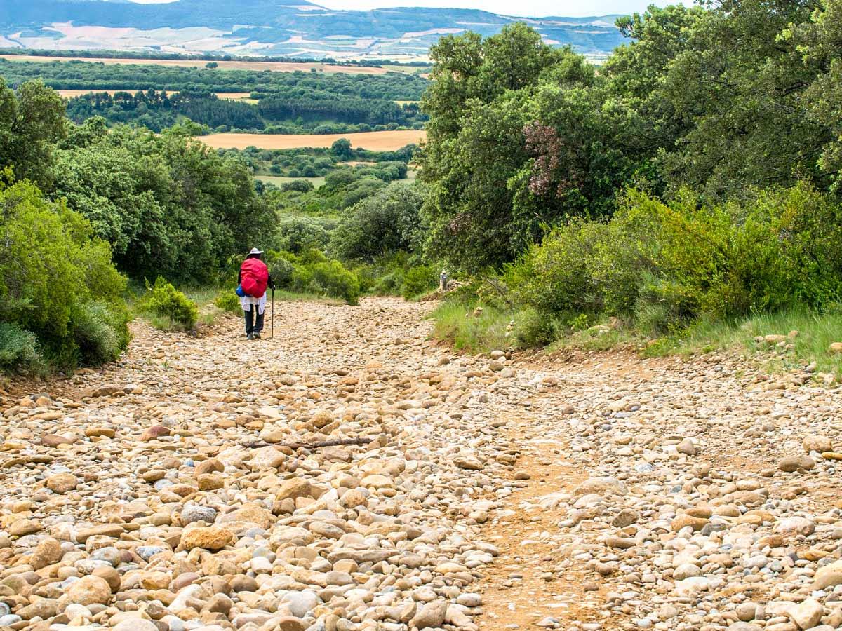 Rocky path of Via de la Plata in Spain