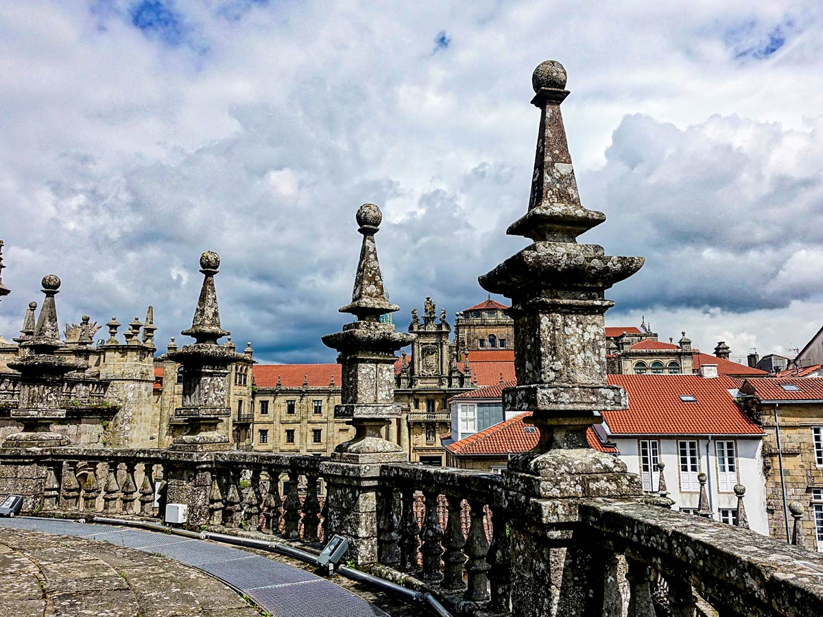 The oldtown of Santiago de Compostela is a highlight of Winter Way Tour