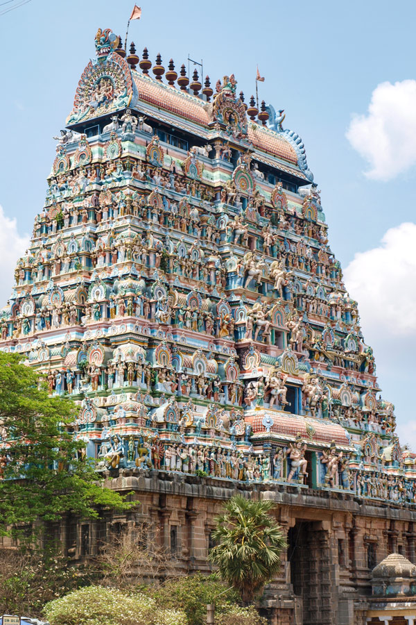 Beautiful building in Madurai seen on a guided tour of Western Ghats
