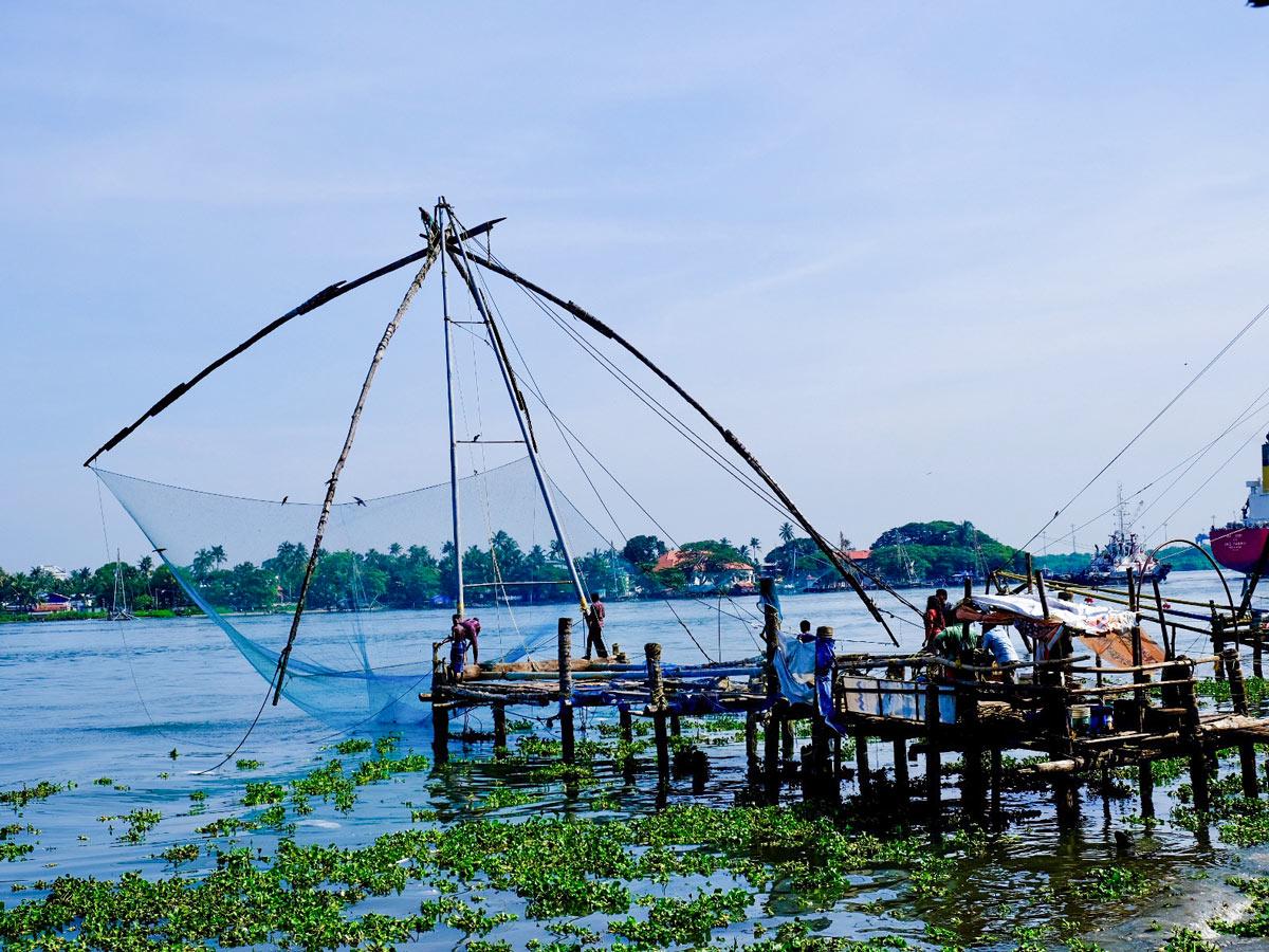 Beautiful marina in Cochin Karelia India