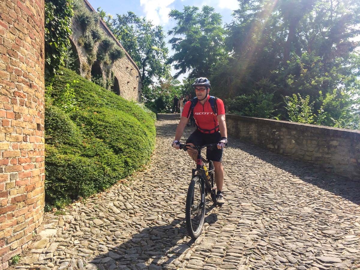 Biking in Piedmonte Tour includes cycling through cozy streets of Alba