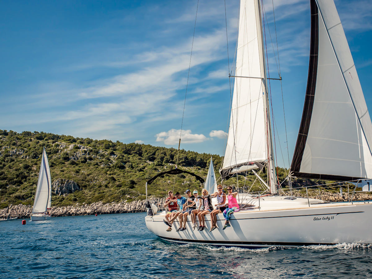 Sailing in Croatia, on Journey Through Colors Tour with a guide