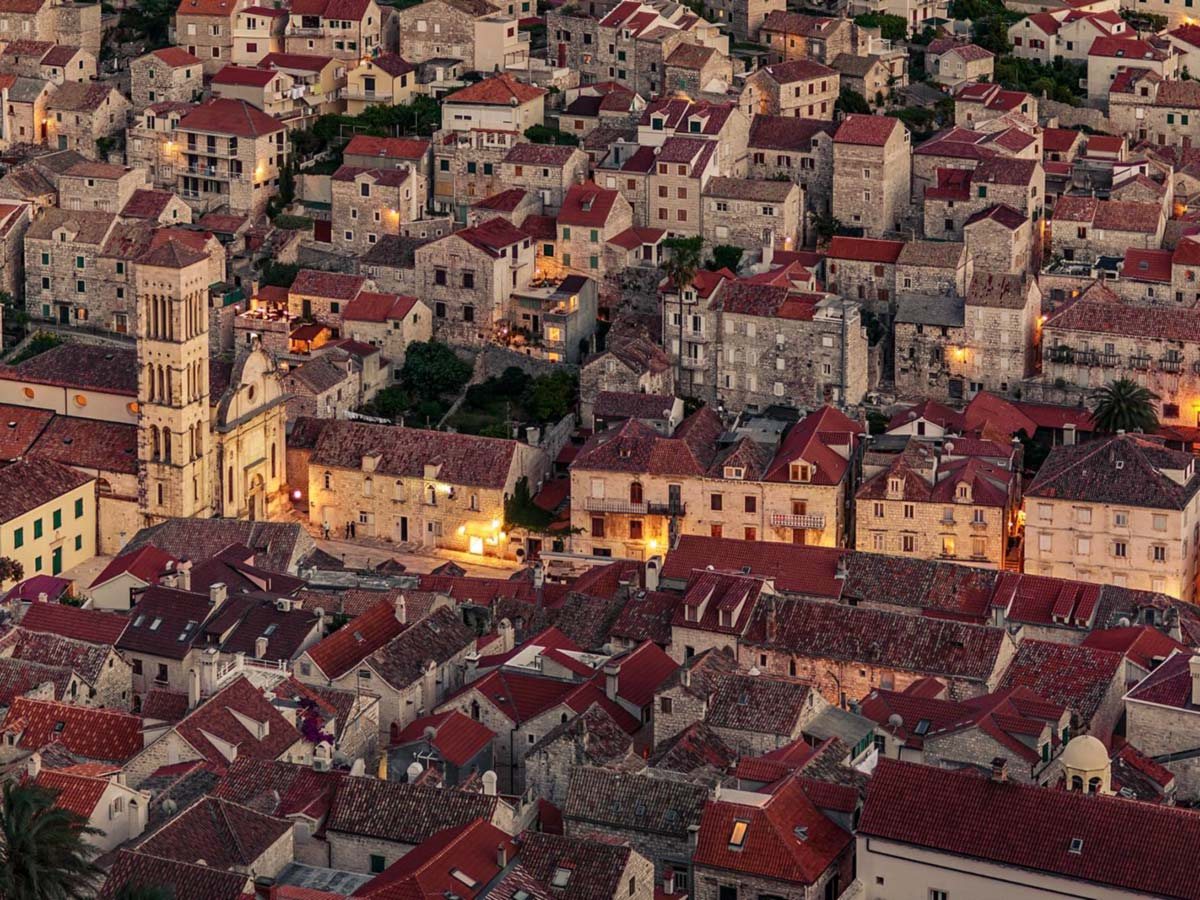 View of the oldtown of Split, visited on a guided tour in Croatia