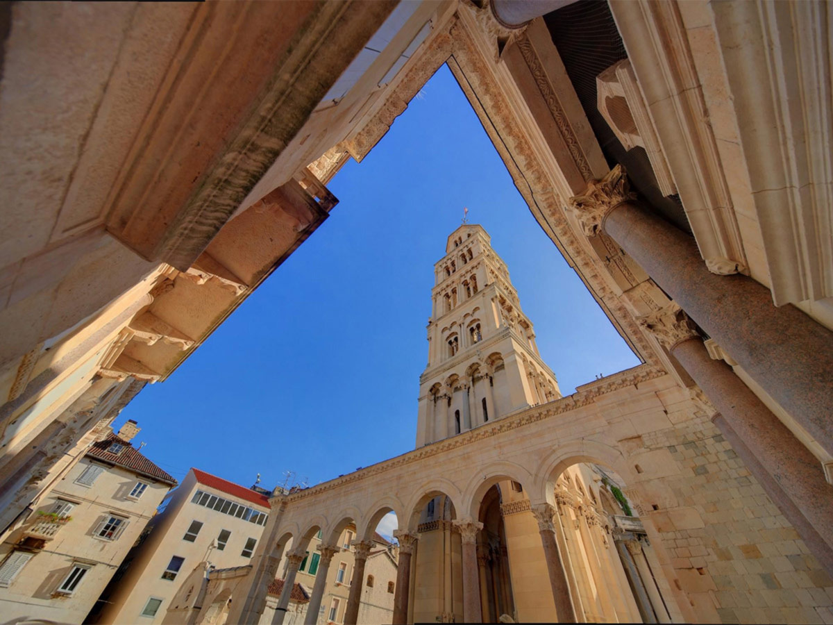 The oldtown of Split, visited on Journey Through Colors Tour in Croatia
