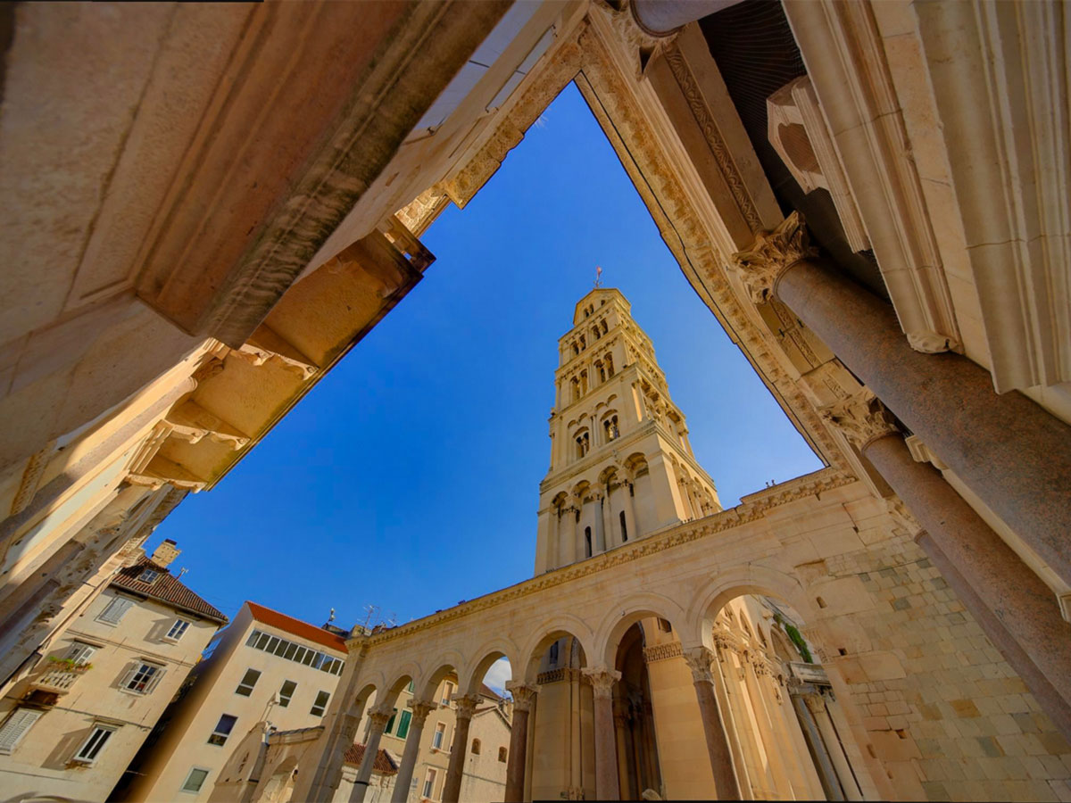 The oldtown of Split visited on a family friendly guided tour in Croatia