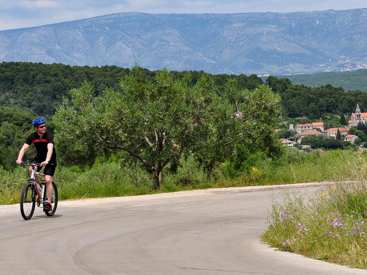 Family Adventure Tour in Croatia includes biking in Hvar Island