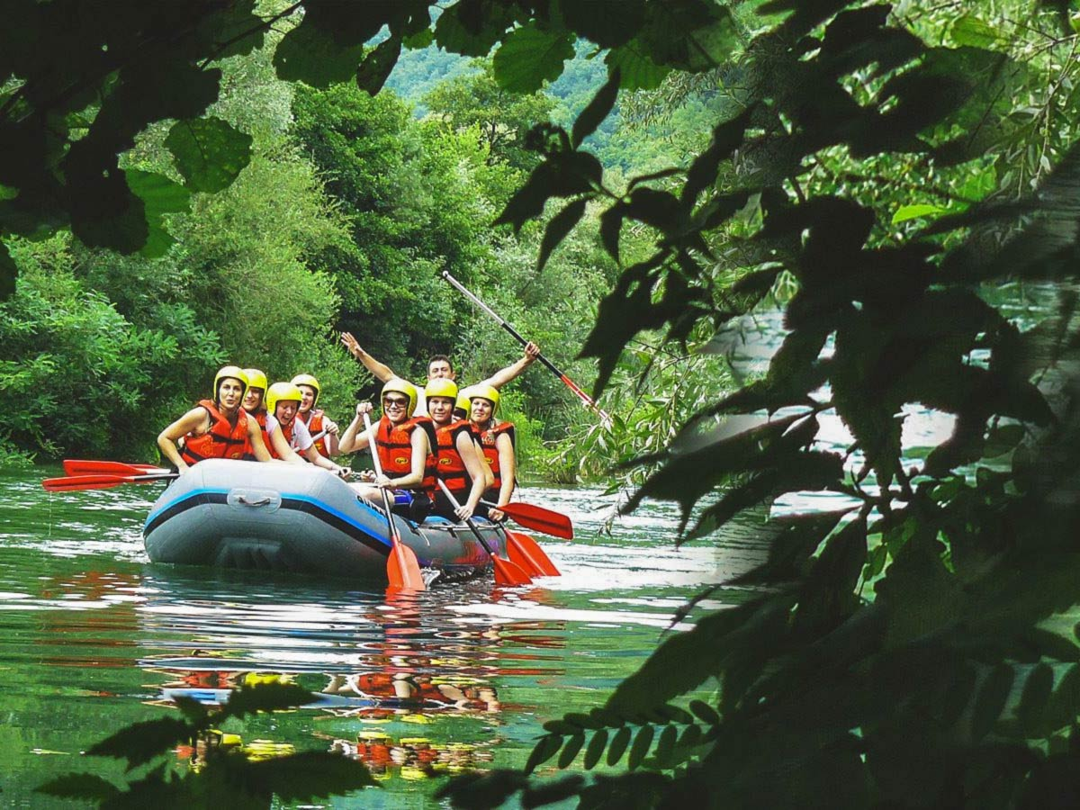 Rafting in Cetina River on Family Adventure Tour in Croatia