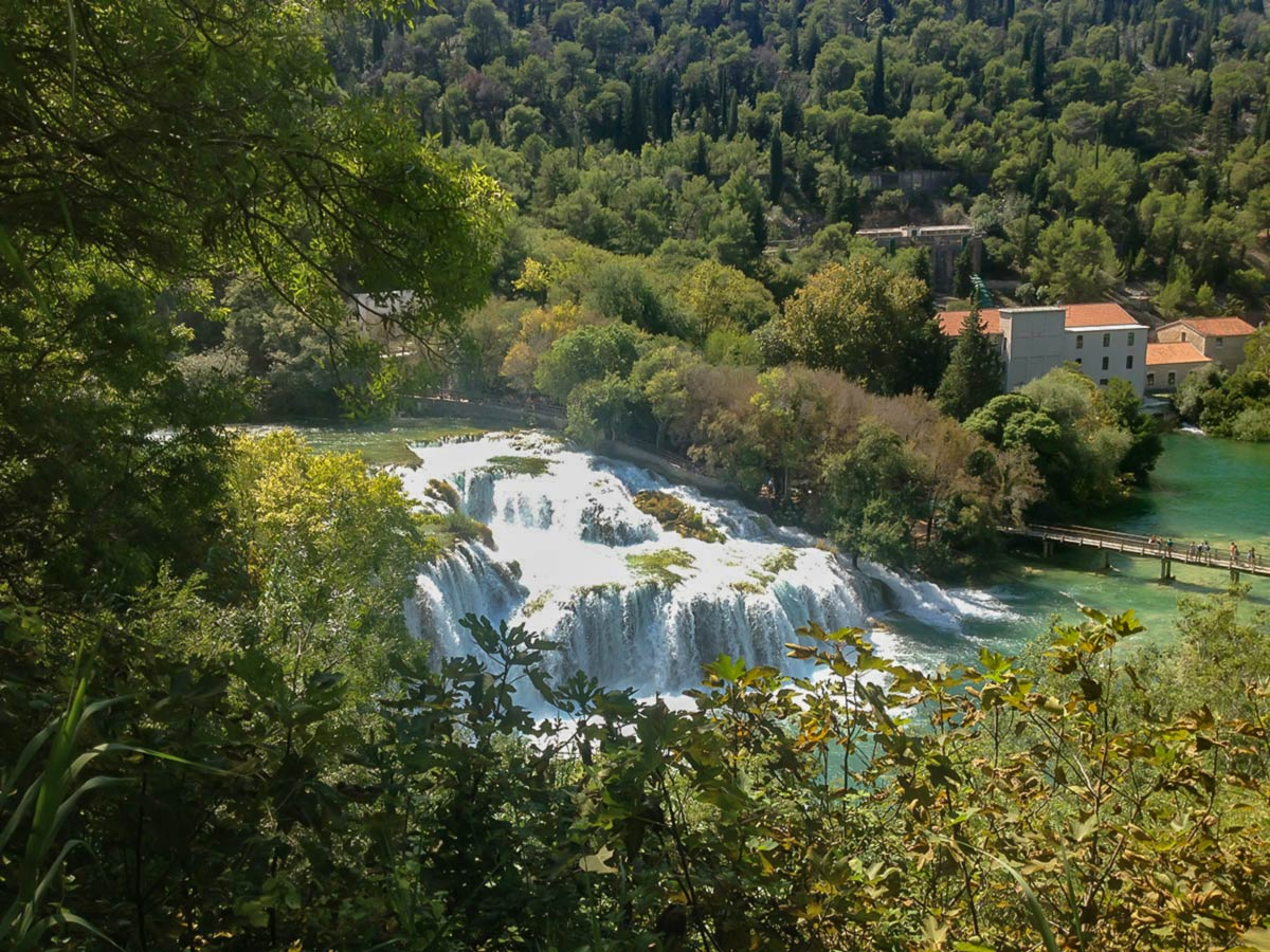 Krka Waterfalls visited on Family Adventure Tour in Croatia