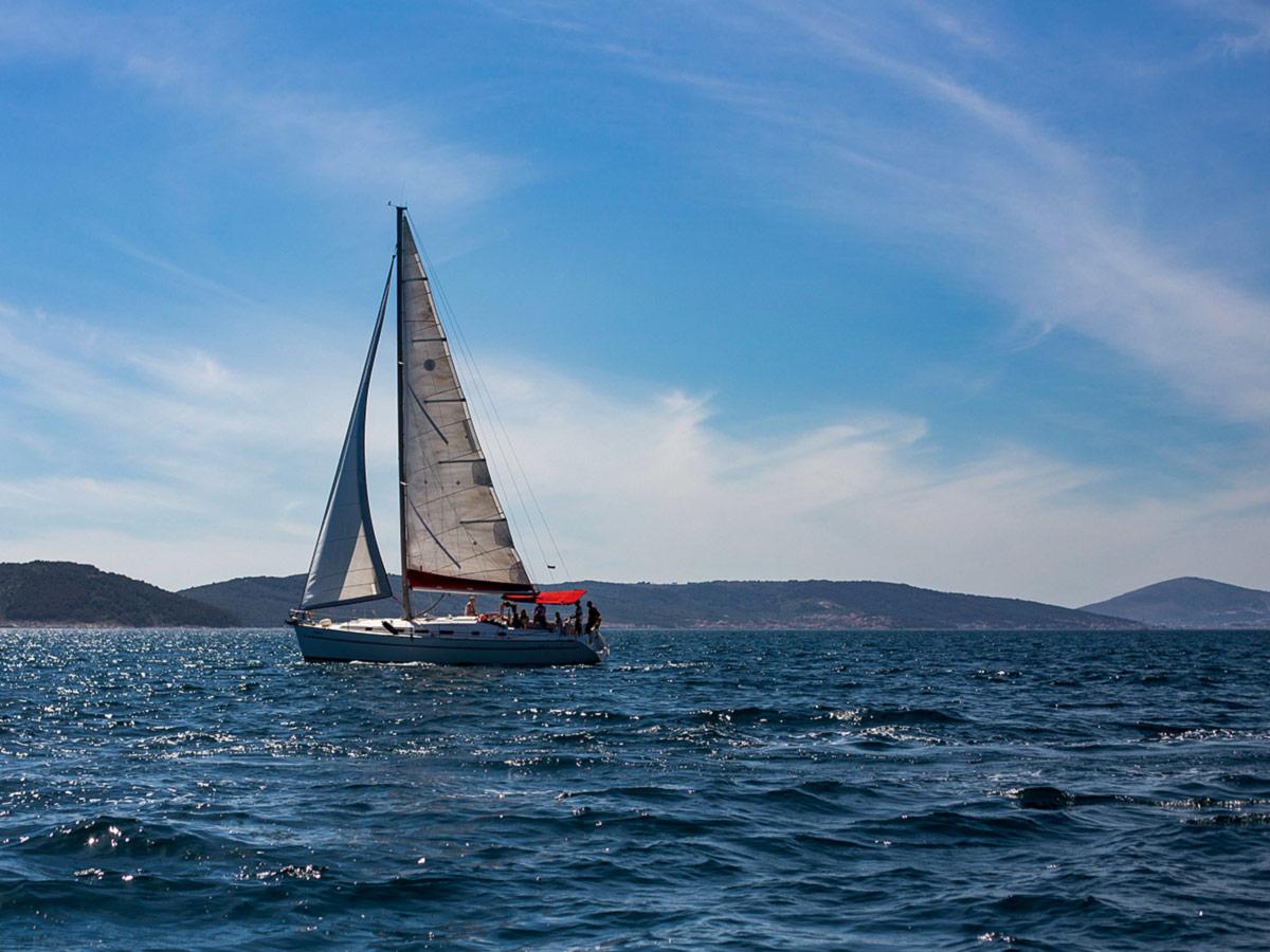 Sailing in the sea on Family Adventure Tour in Croatia