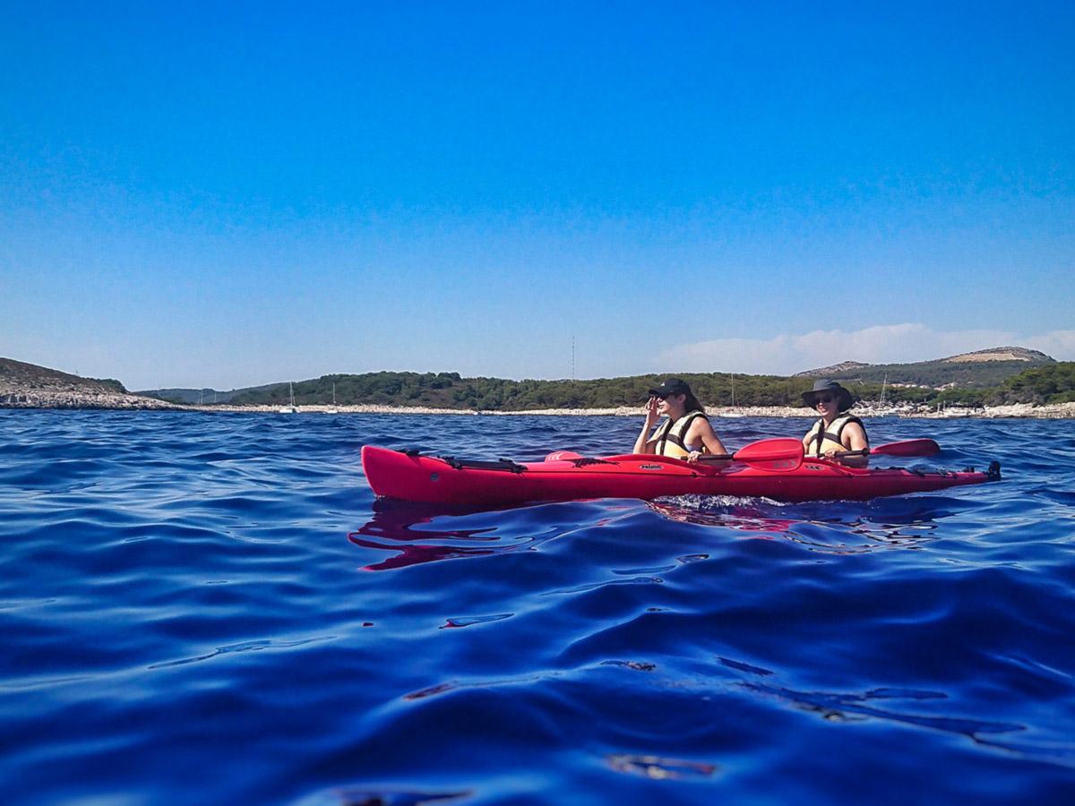 Sea kayaking on Family Adventure Tour in Croatia