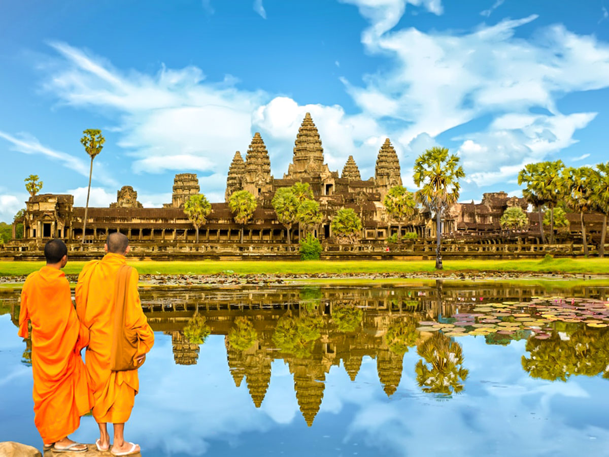 Biking in Cambodia Tour is an adventure that includes visiting the famous Angkor Wat