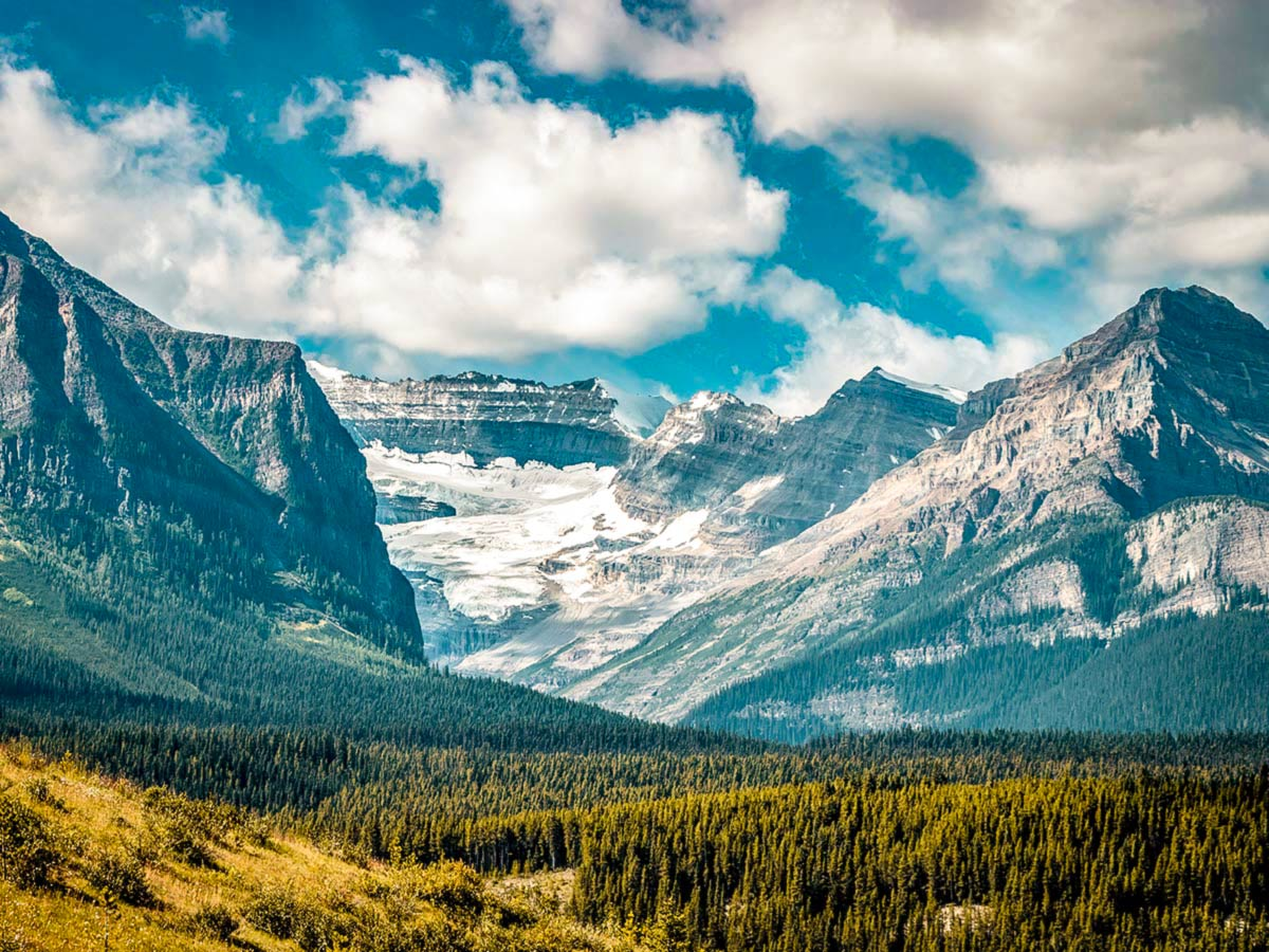 Beautiful valley visited on a guided 12 day tour in the Canadian Rocky Mountains