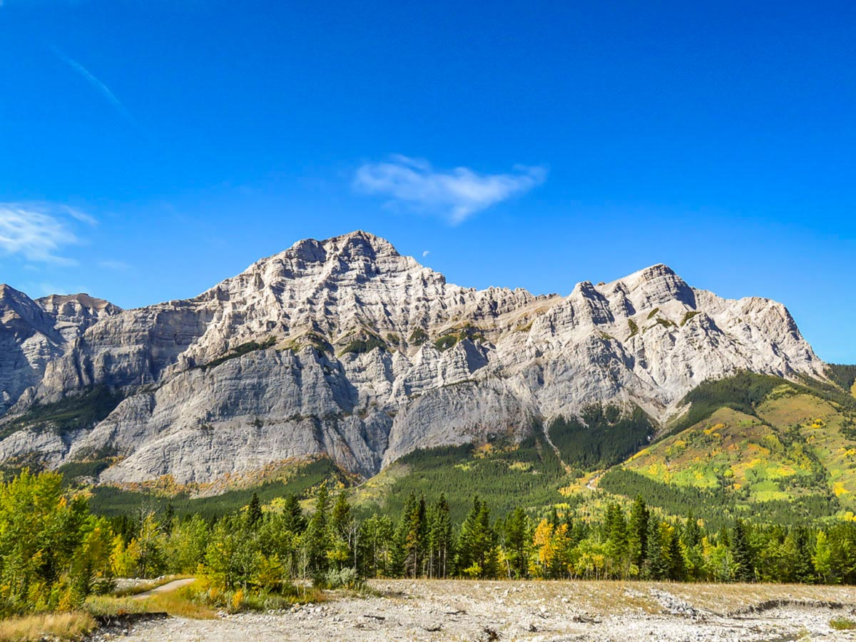 Beautiful peaks of the Canadian Rocku Mountains seen in Kananaskis Country