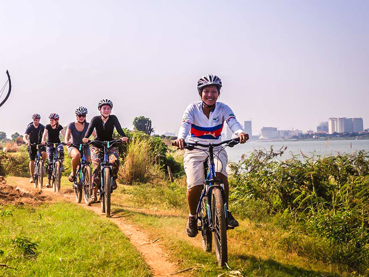 Backroads Biking in Cambodia Tour includes biking the paths rarely visited