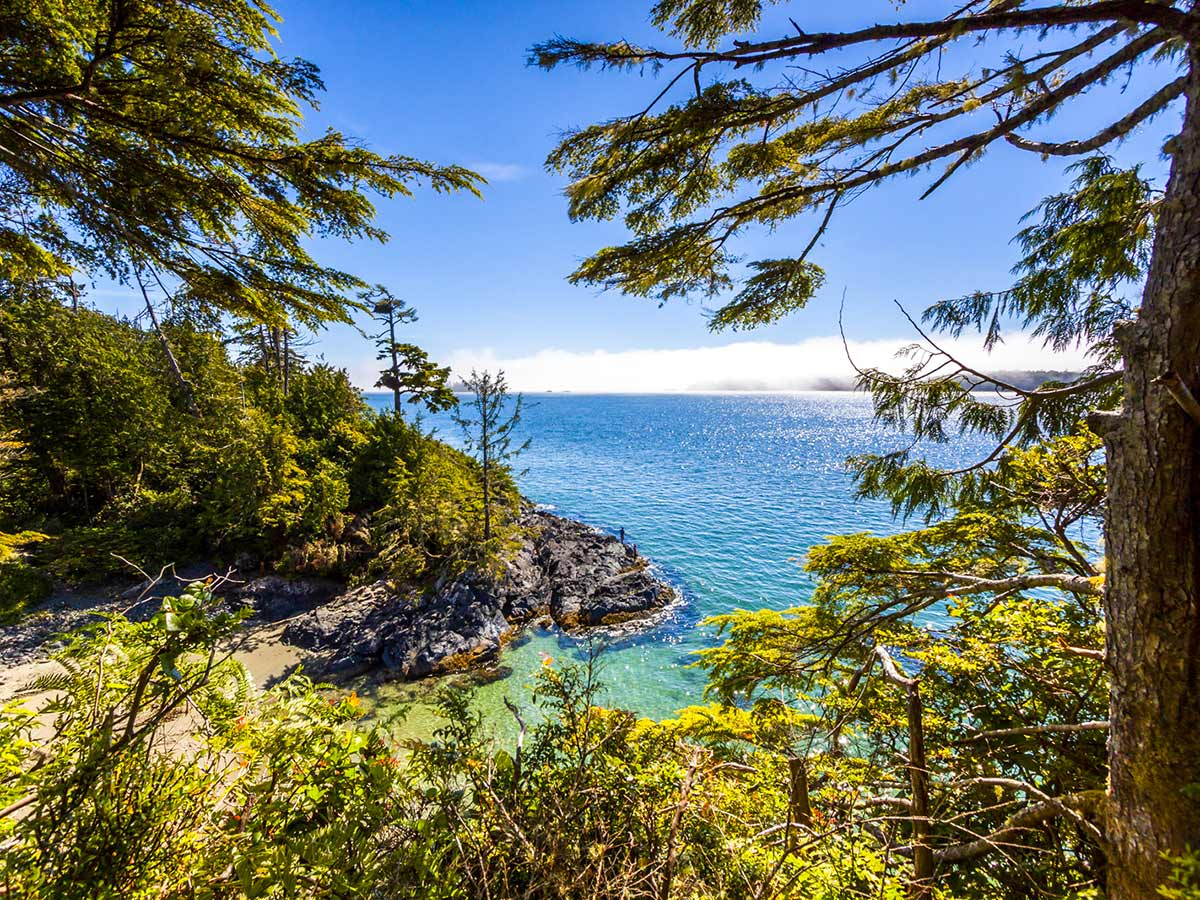 Blue water near the Saltspring Island visited on 8 day guided hike in Vancouver Island