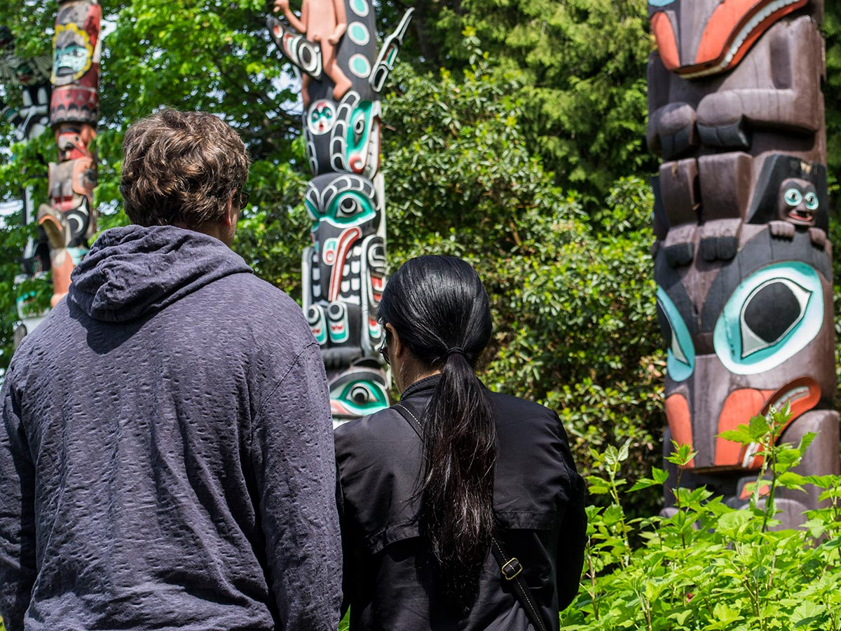 Guided hiking tour in Vancouver Island includes visiting numerous interesting sites