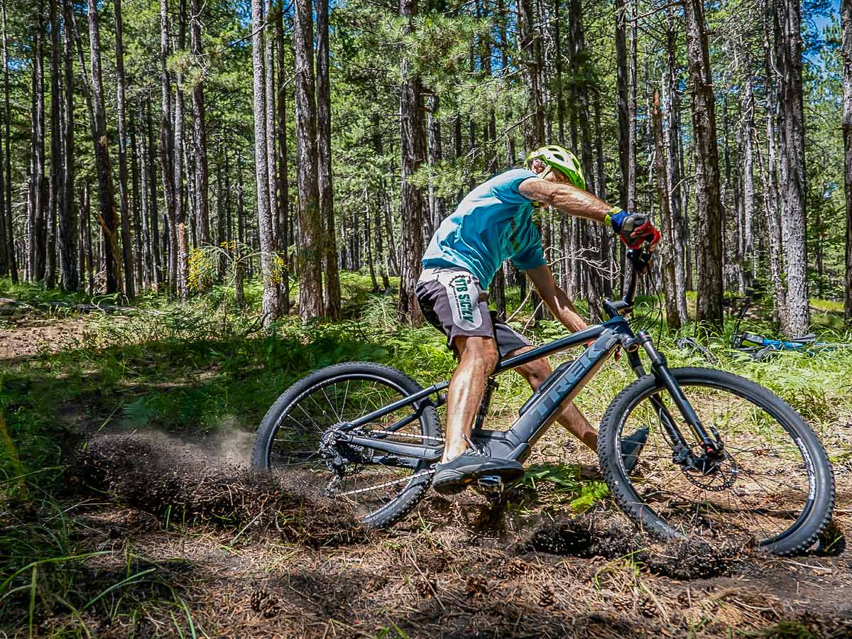 Biker in the forests of Sicily