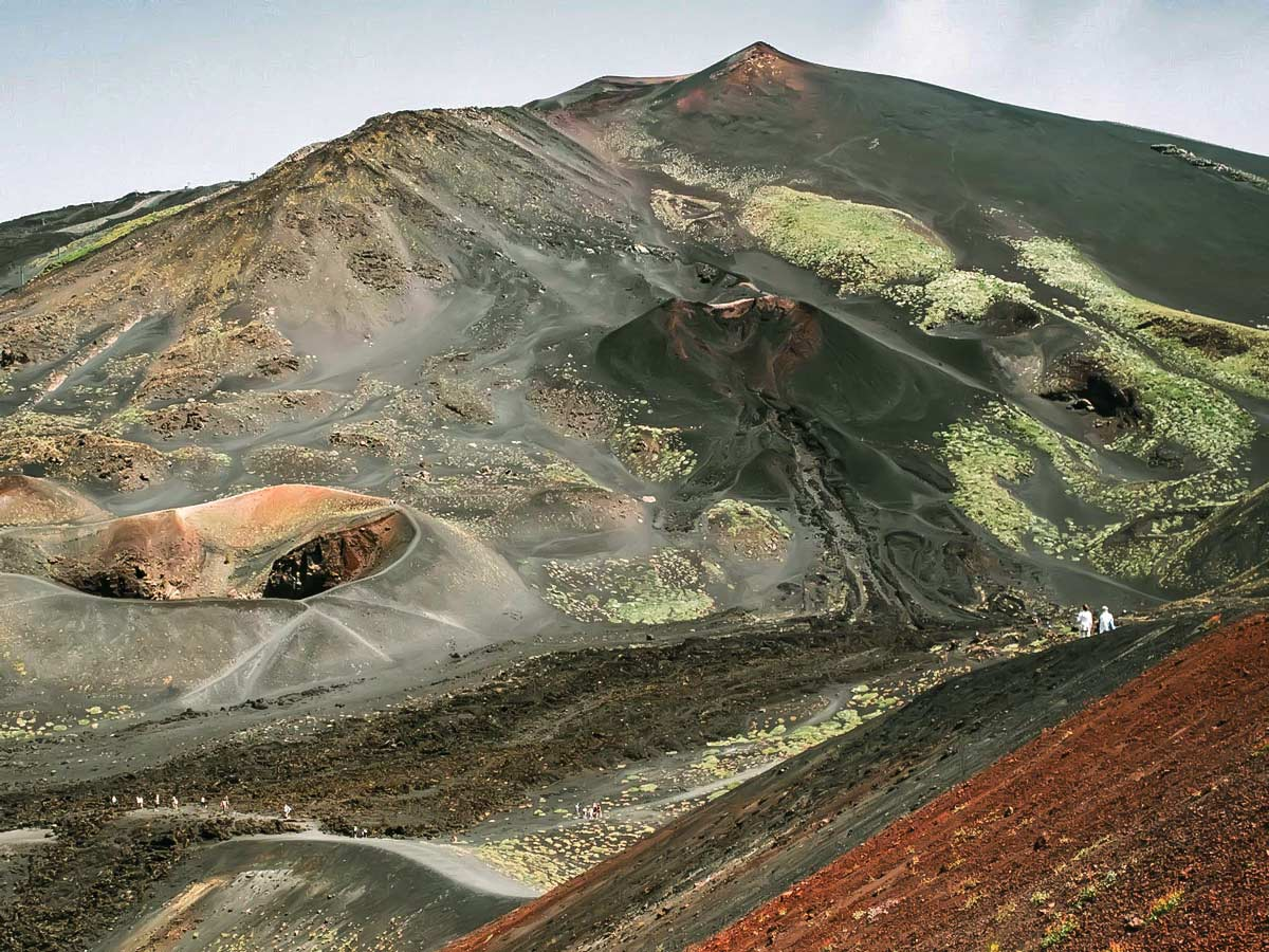 Beautiful volcano formations near Etna
