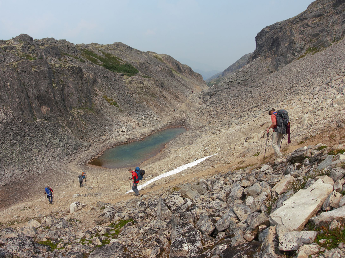 Alpine lakes along the Chilkoot Tral in Alaska and Canada
