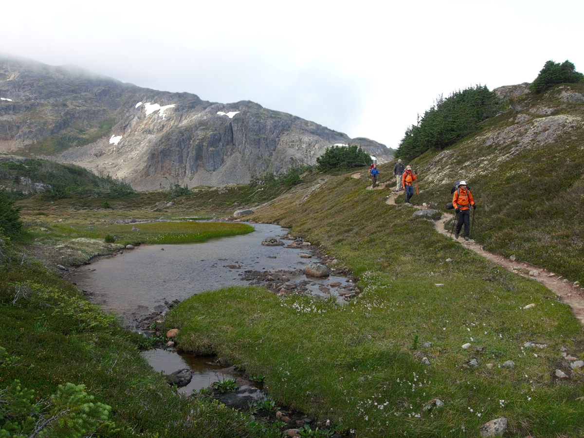 Chilkoot Trail leads along numerous alpine lakes