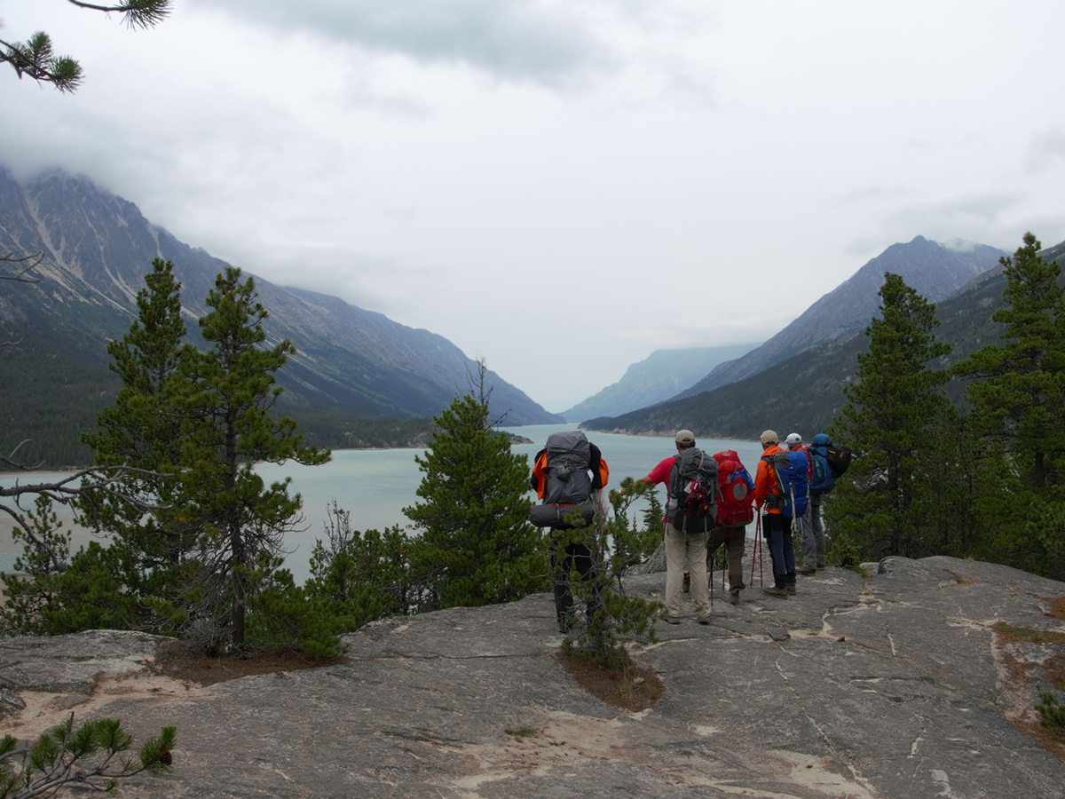 Approaching the Bennet Lake in Brittish Columbia Canada