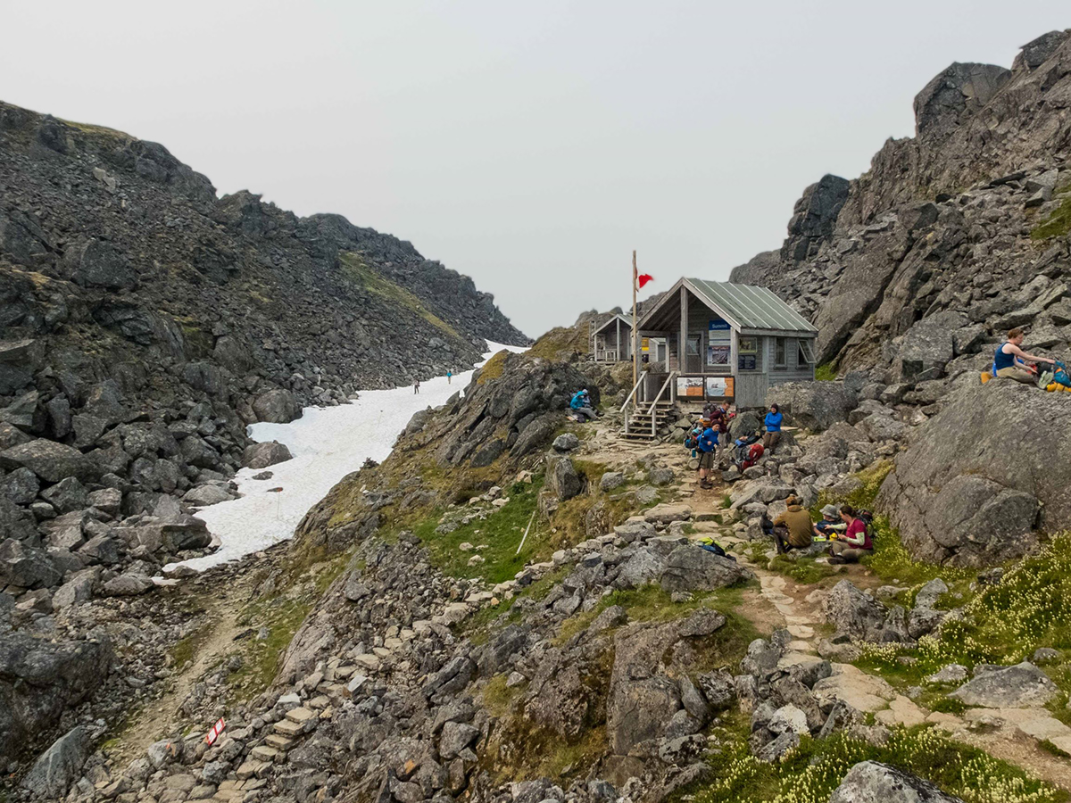 Approaching the Canadian Boarder on Chilkoot Trail Alaska