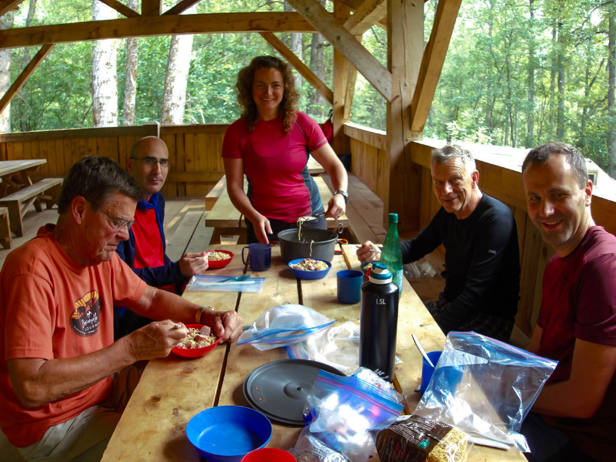 Dinner in Camp along the Chilkoot Trail