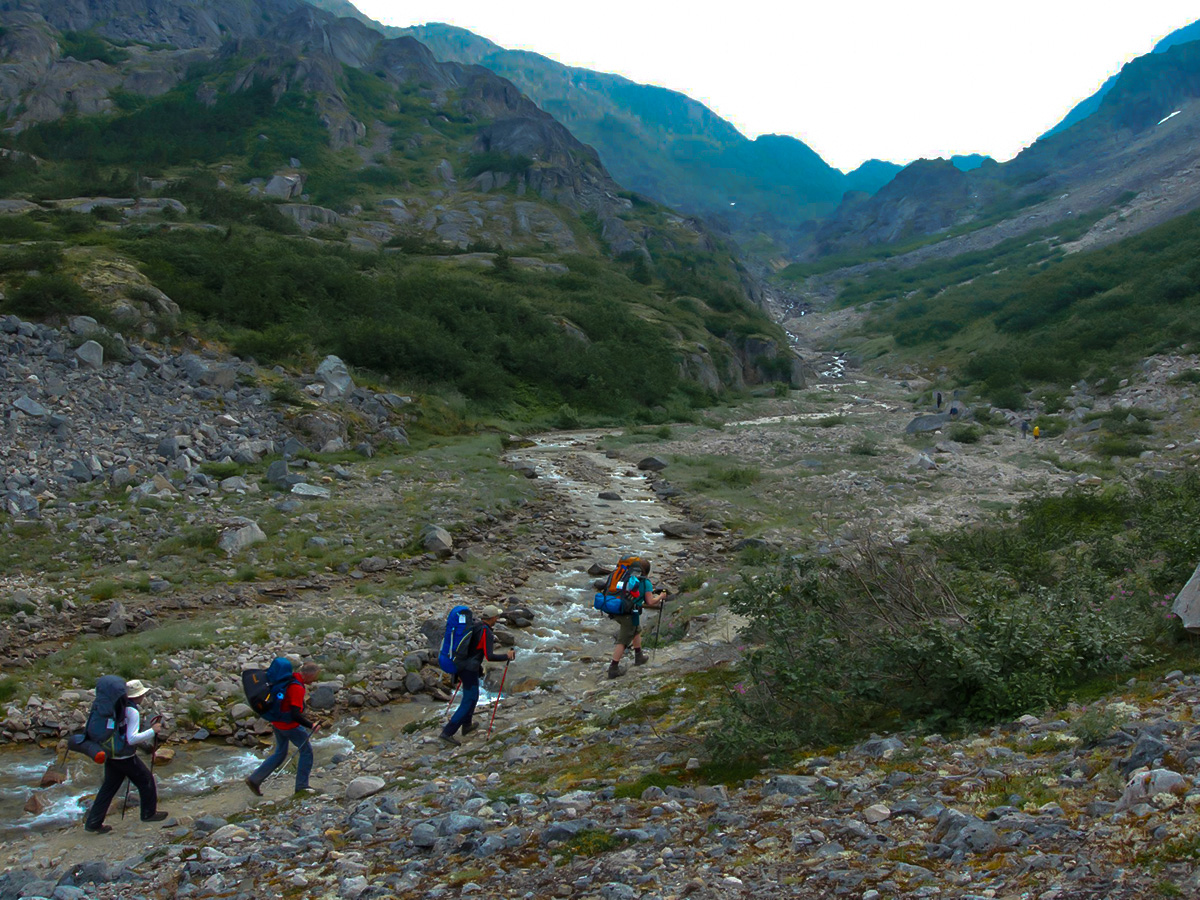 Upper valley on the Chilkoot Trail Alaska and Yukon