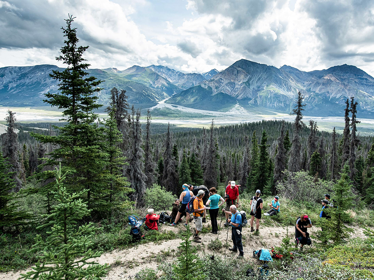 Gold Rush Tour includes hiking in Kluane National Park