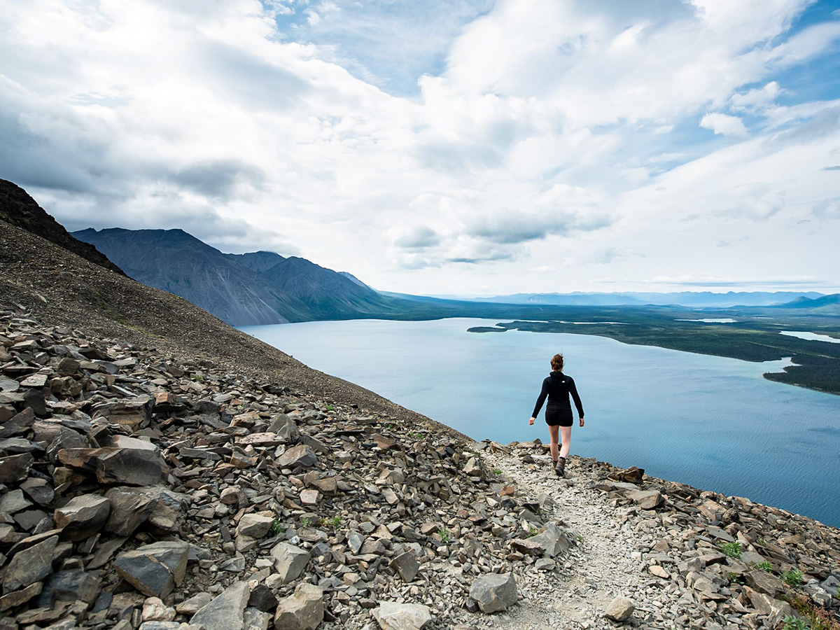 Hiking in Kluane National Park with a guided group