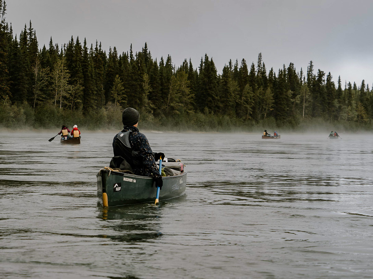 Yukon River canoeing with a guided tour