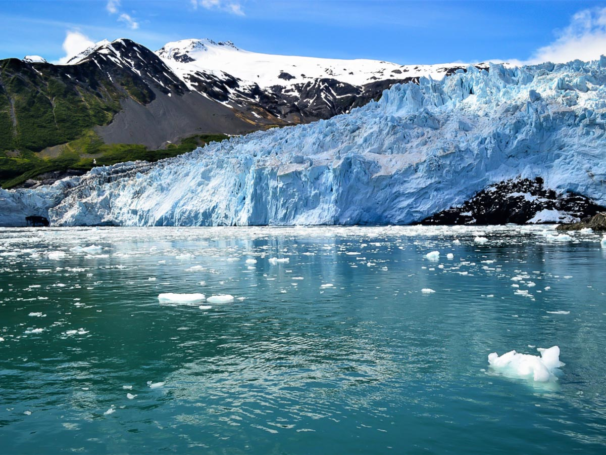 Hiking to Portage Glacier on a guided hiking tour to Alaska