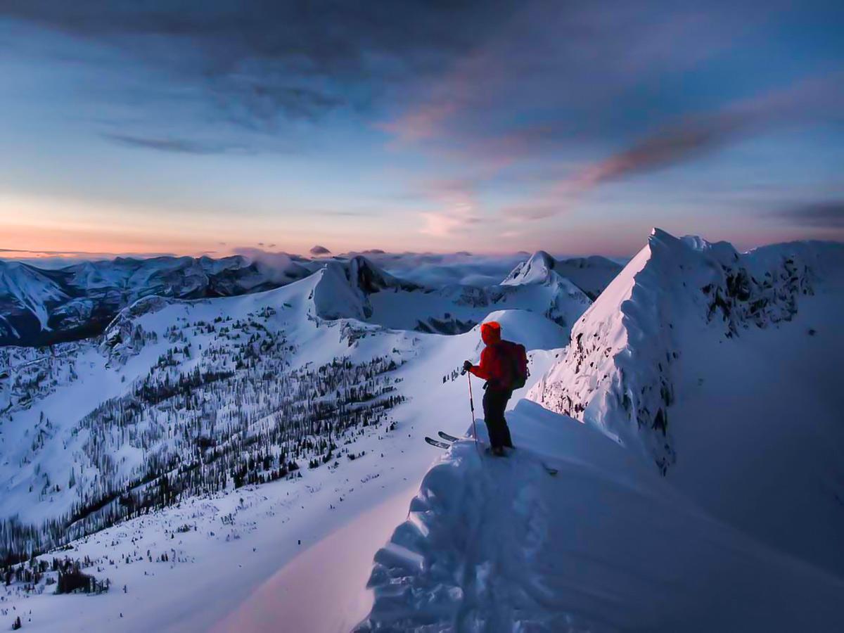 Downhill skiing in British Columbia