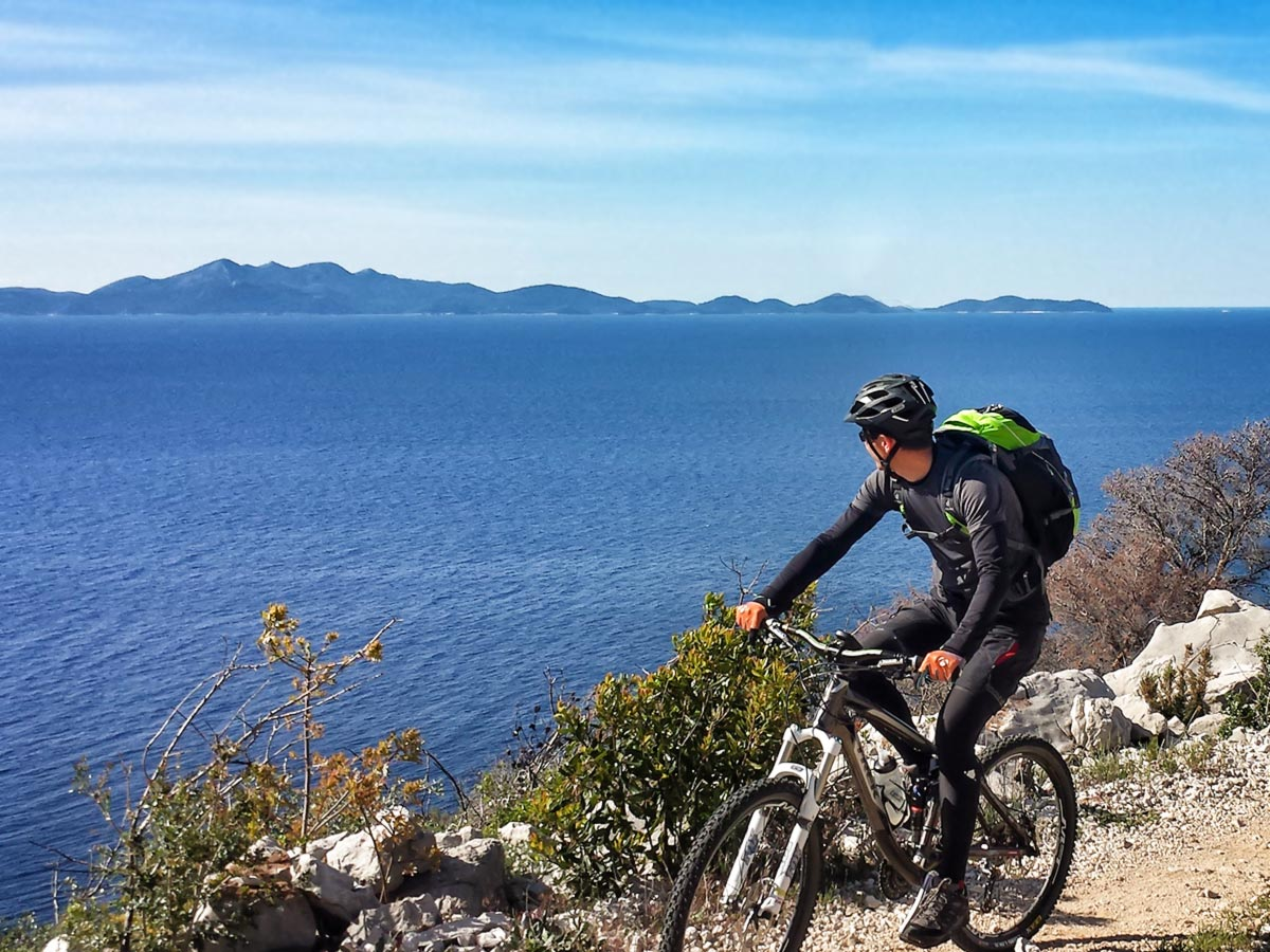 Beautiful panoramic views of the Dalmatian Sea (Mountain Biking Tour in Croatia)
