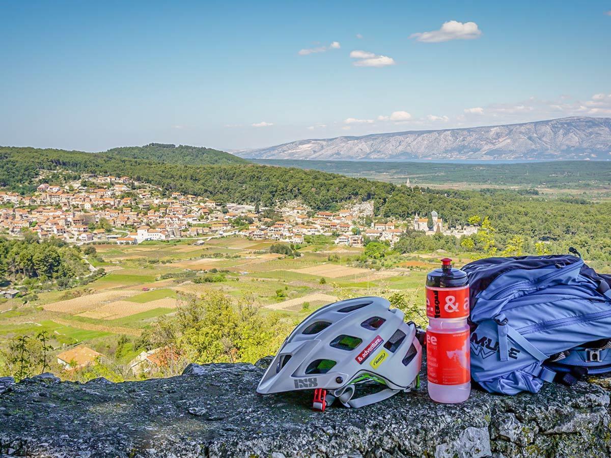 Stunning panoramic views, seen on a guided Mountain Biking Tour in Croatian Islands