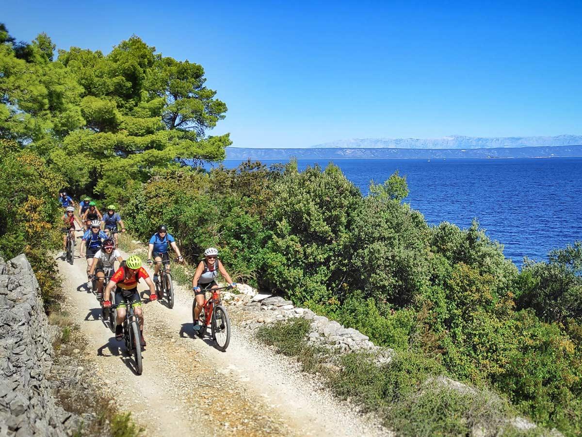 Mountain Biking in Croatian Islands is a very rewarding experience