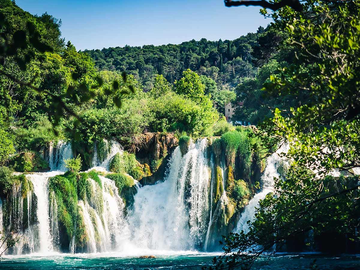 Beautiful Krka Waterfalls in Croatia