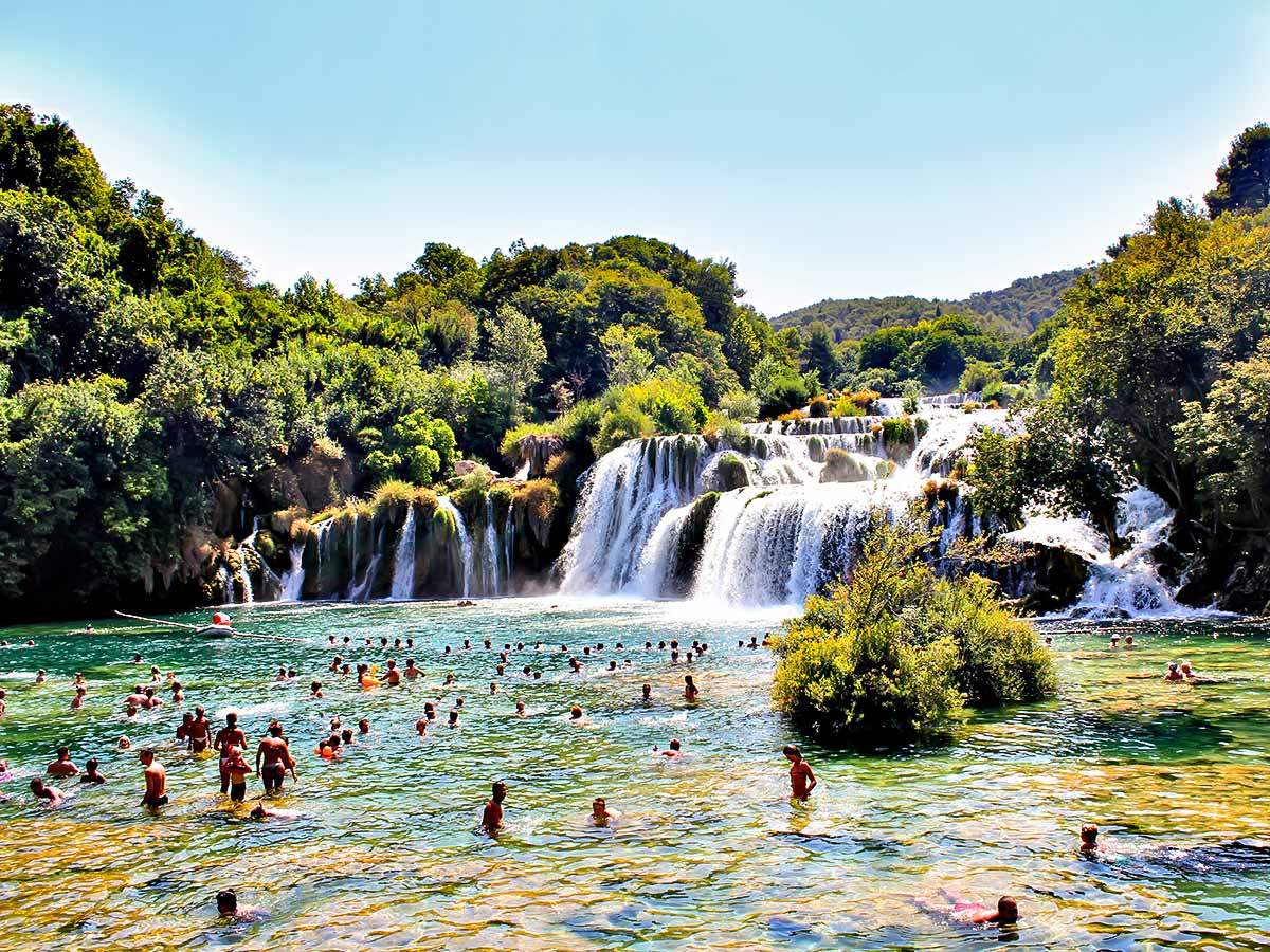 5-day Sailing Adventure in Croatia gives an option to visit Krka Waterfalls