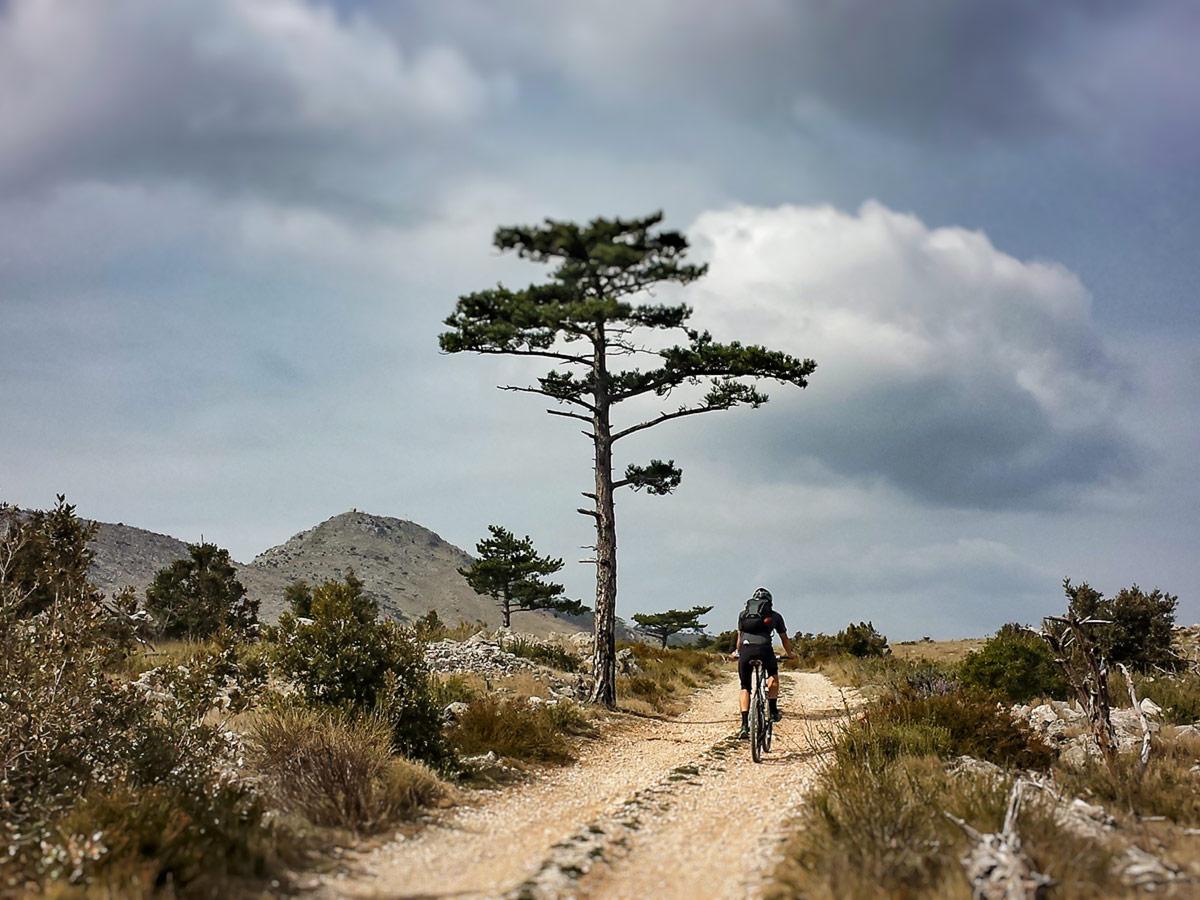 Lone biker in Croatia