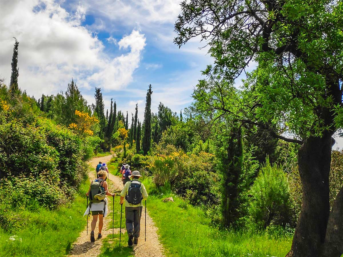 Group of hikers trekking from Split to Dubrovnik on a self guided tour