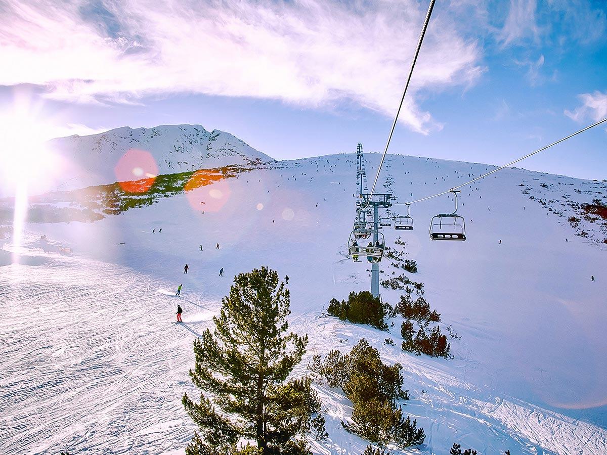 Skiing near Bansko is a very rewarding experience