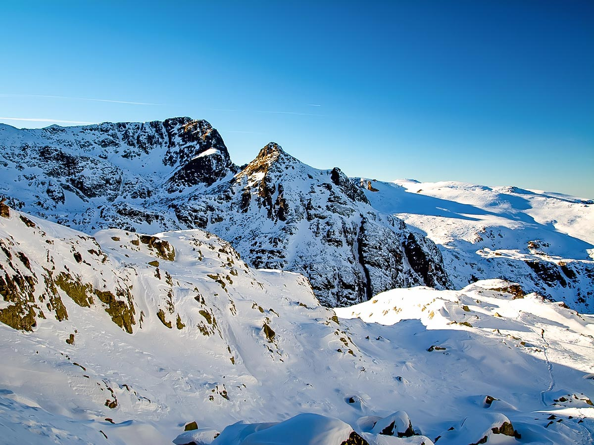 Beautiful mountain peaks in Bulgaria seen on a guided tour to Bulgarias Mountains