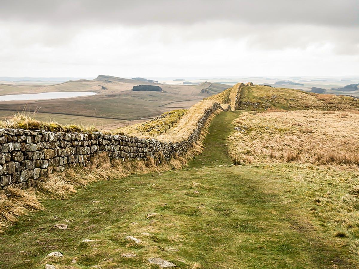 Beautiful English Countryside, seen on the walk of the Hadrian's Wall Path