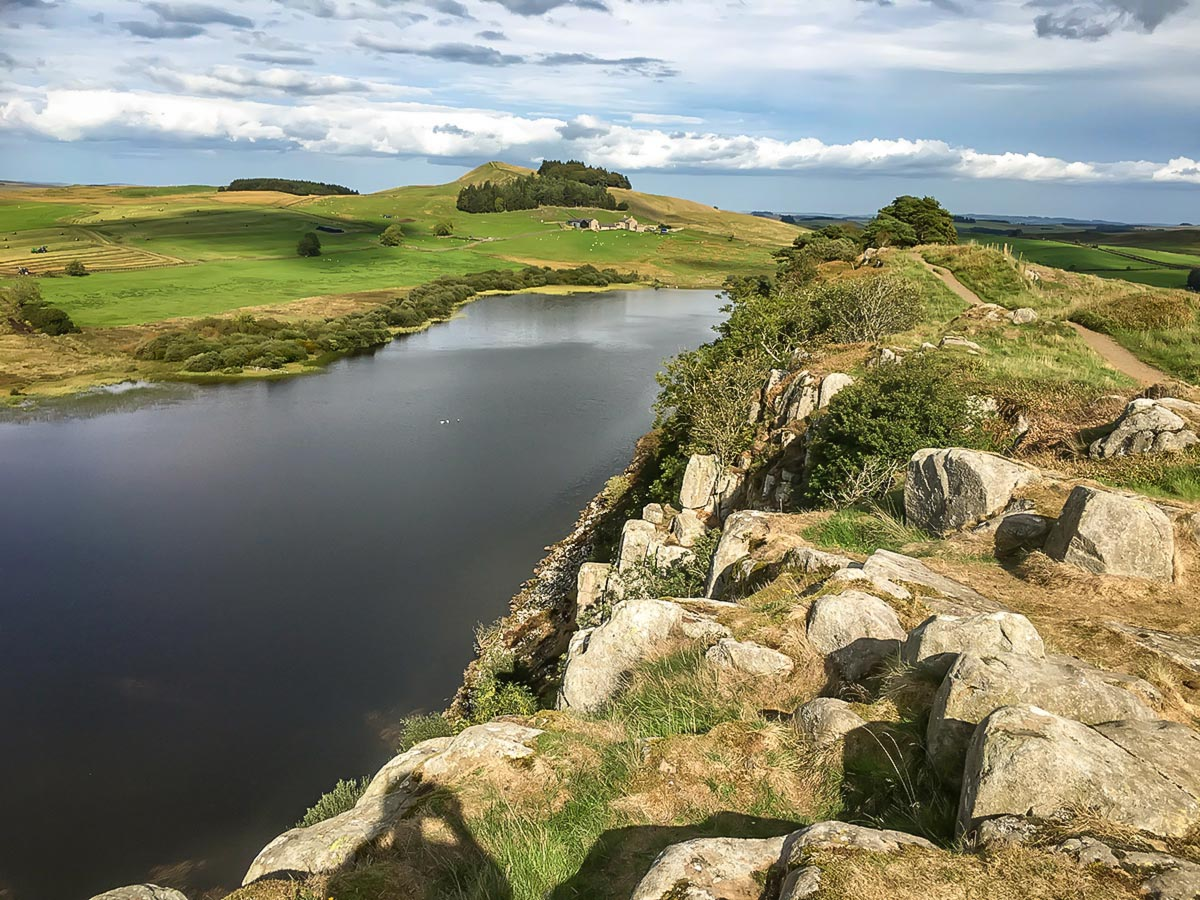 Greenlee Lough on a walk of the Hadrians Wall Path in England