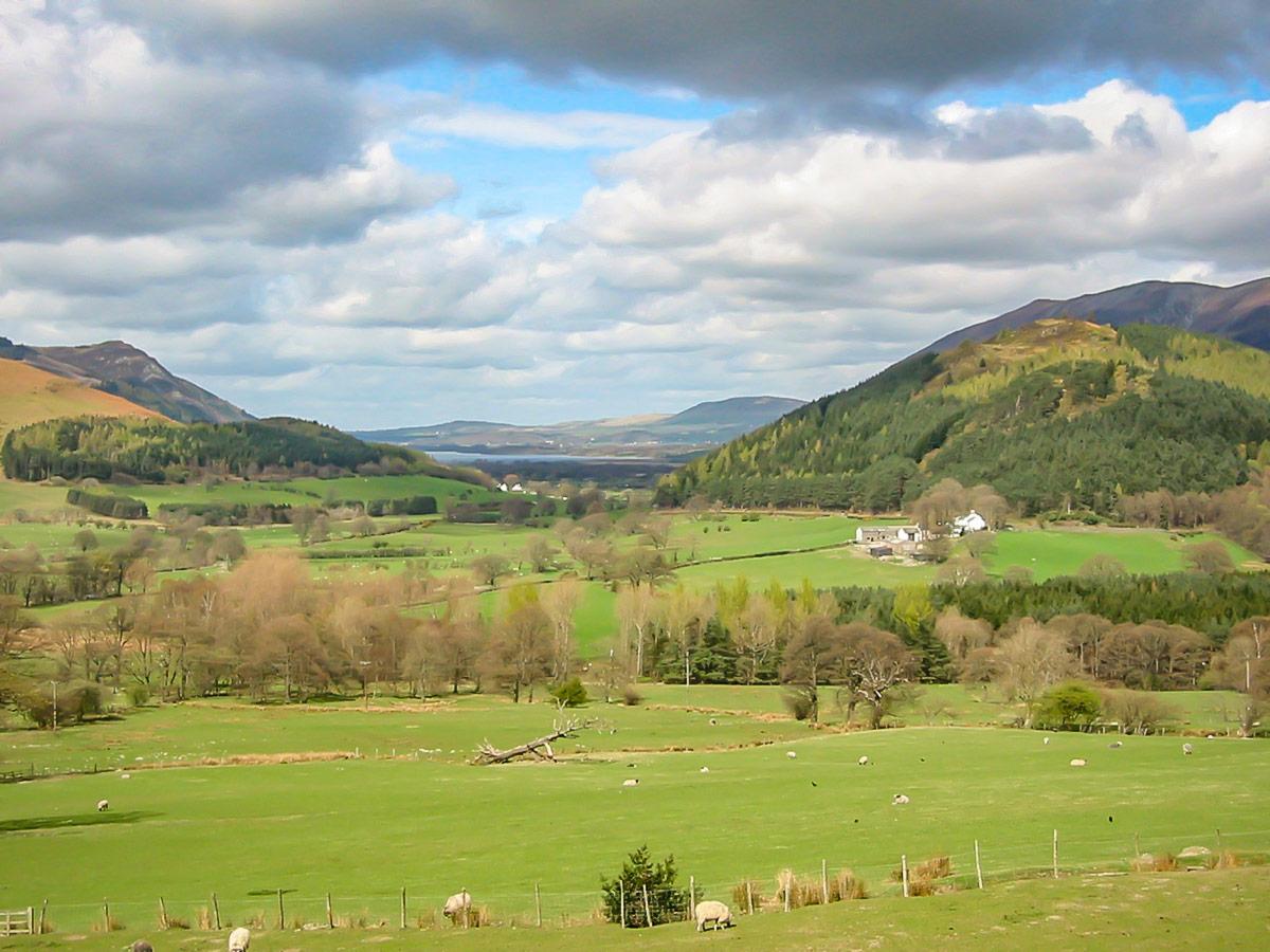 Derwentwater Valley in the Lake District