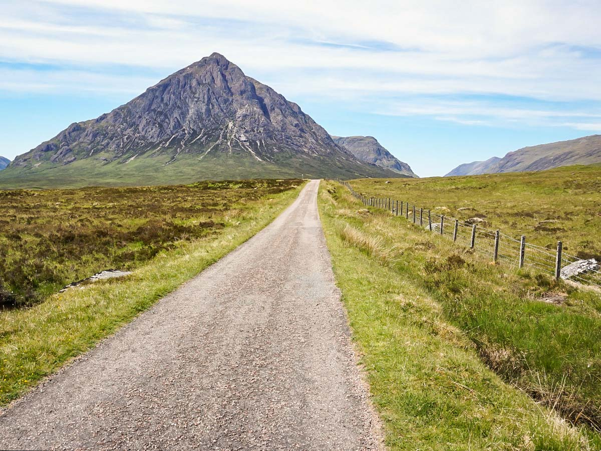 Setting off at Buachaille Etive Mor on the West Highland Way walk