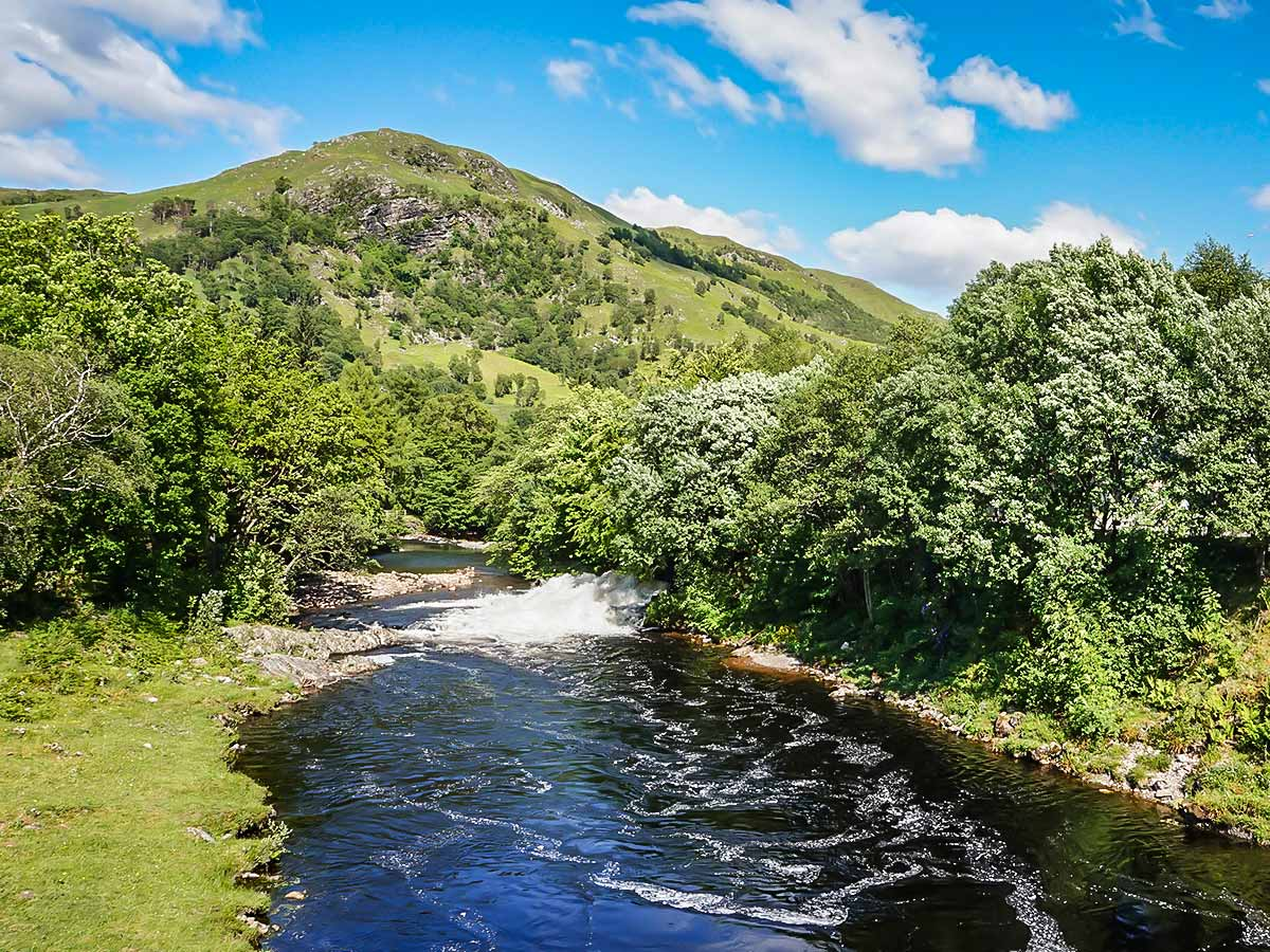 West Highland Way in Scotland includes walking along the Kinlochleven