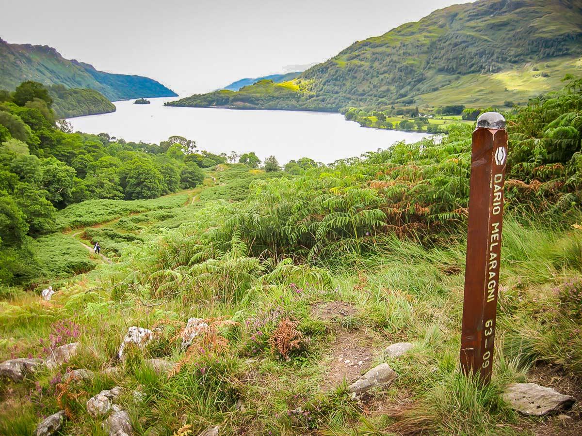 Loch Lomond as seen on West Highland Way walk near Ardleish