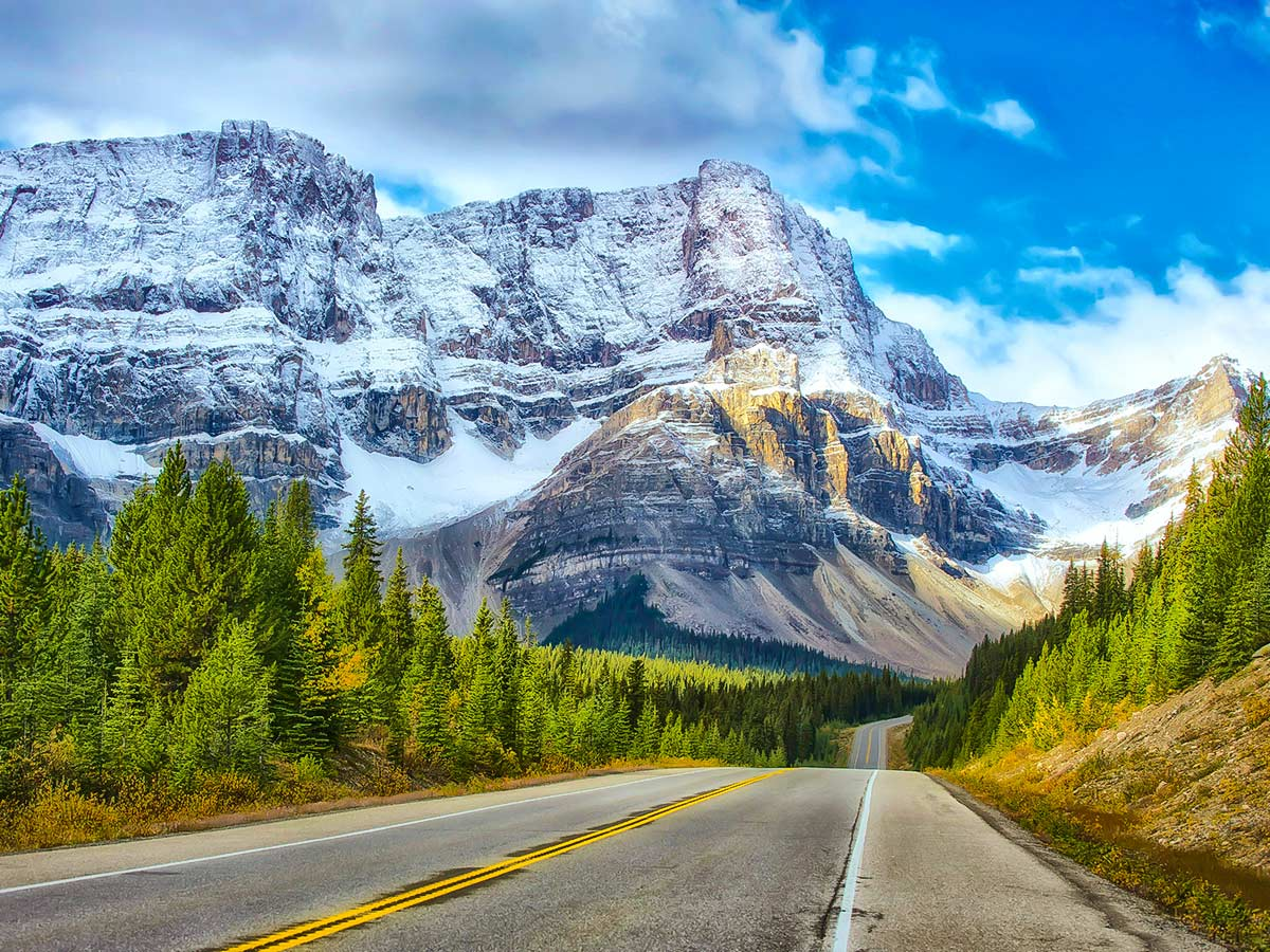 Icefields Parkway, as seen on a guided tour to the Rocky Mountains of Canada
