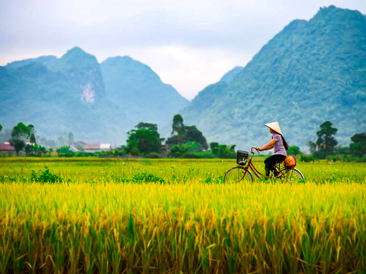 One of many beautiful views seen on Vietnam Active Adventure Tour